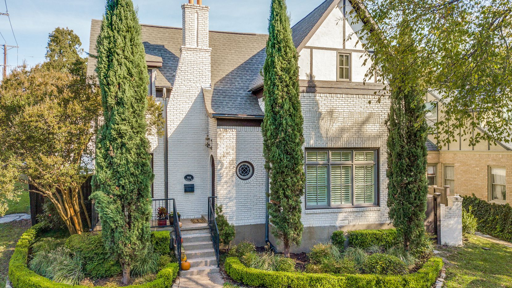 Situated on a hill in Lakewood, the 1930s Tudor-style residence at 7001 Pasadena Ave. has been updated and enlarged.