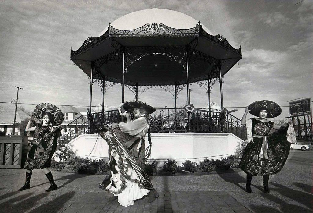 Chita Guerrero (center) and her two daughters, Veronica (left) and Rebecca (right), dance at Pike Park in 1978.