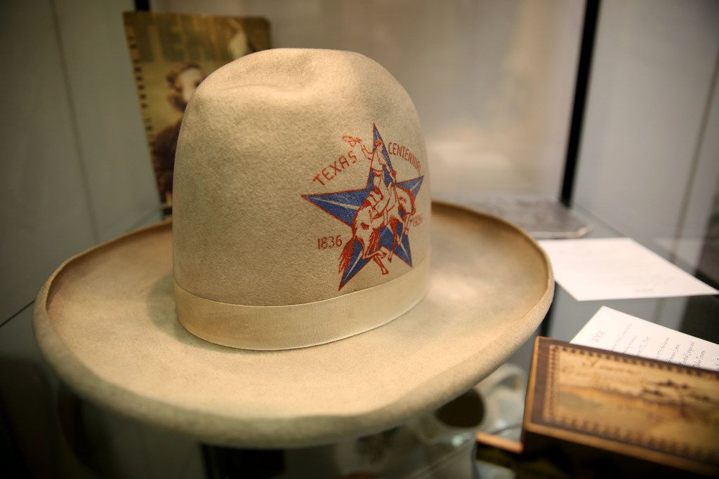 A commemorative hat from the Texas Centennial Exposition in 1936 worn by oil tycoon H.L. Hunt.