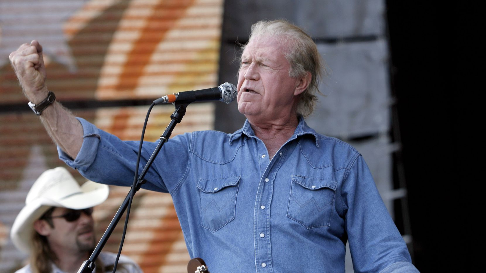 Billy Joe Shaver performs at Farm Aid on Randall's Island in New York on Sept. 9, 2007.