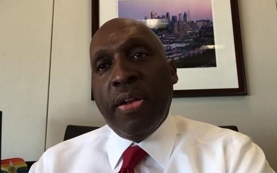 Dallas City Manager T.C. Broadnax gives a virtual presentation of the fiscal year 2020-2021 proposed budget to the Dallas Morning News editorial board on Friday, Aug. 7, 2020. (Screenshot via Zoom)