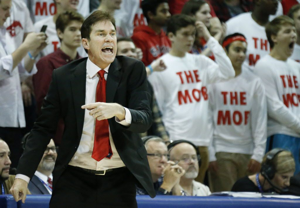 Tim Jankovich, seen here in last year's game against Michigan on Dec. 8,  takes over as head coach for SMU after serving four years as associate head coach under Larry Brown.