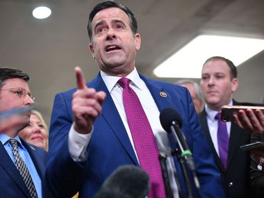 Rep. John Ratcliffe, R-Texas, speaks to the press at the US Capitol on January 27, 2020. On Feb. 28, President Donald Trump nominated him as director of national intelligence.