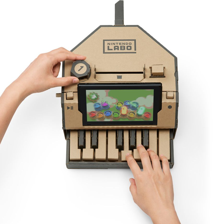 You can build a cardboard piano as part of Nintendo Labo Variety Kit.