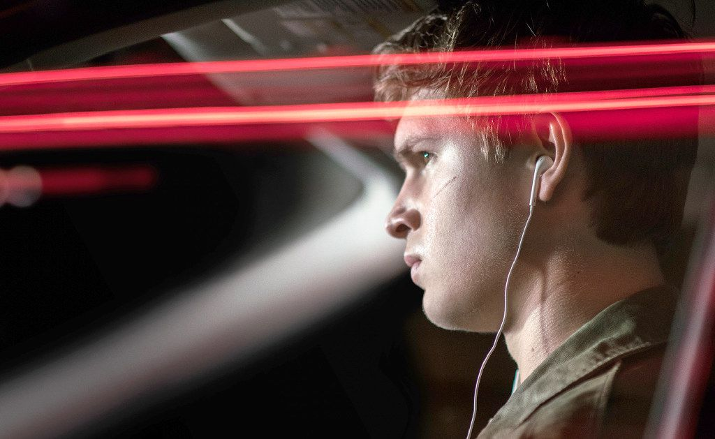 """Ansel Elgort as Baby in """"Baby Driver"""" -- a young man whose earbuds, vintage iPod and infinite collection of classics help him navigate through life."""