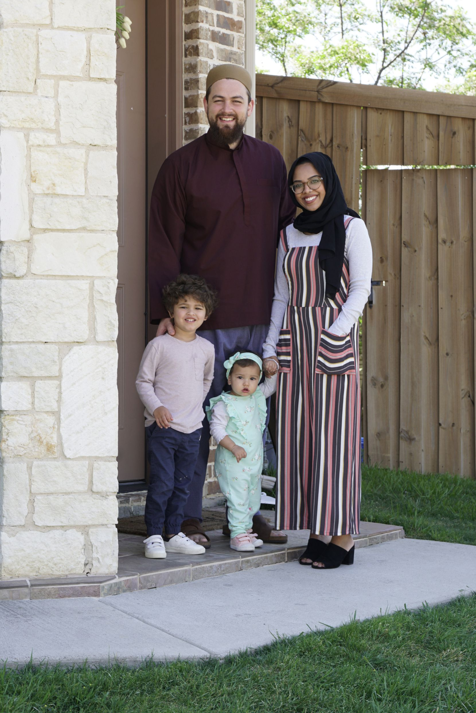 Despite sheltering in place, Abdelrahman Murphy, his wife Mehreen Khan, and their children,  three-year-old Musah Murphy and one-year-old Iman Murphy, will likely find a way to keep some traditions. They'll put up twinkling lights in their house. They'll eat special foods like dates. And Abdelrahman Murphy will go online to engage with students, professionals and families. (Lawrence Jenkins/Special Contributor)