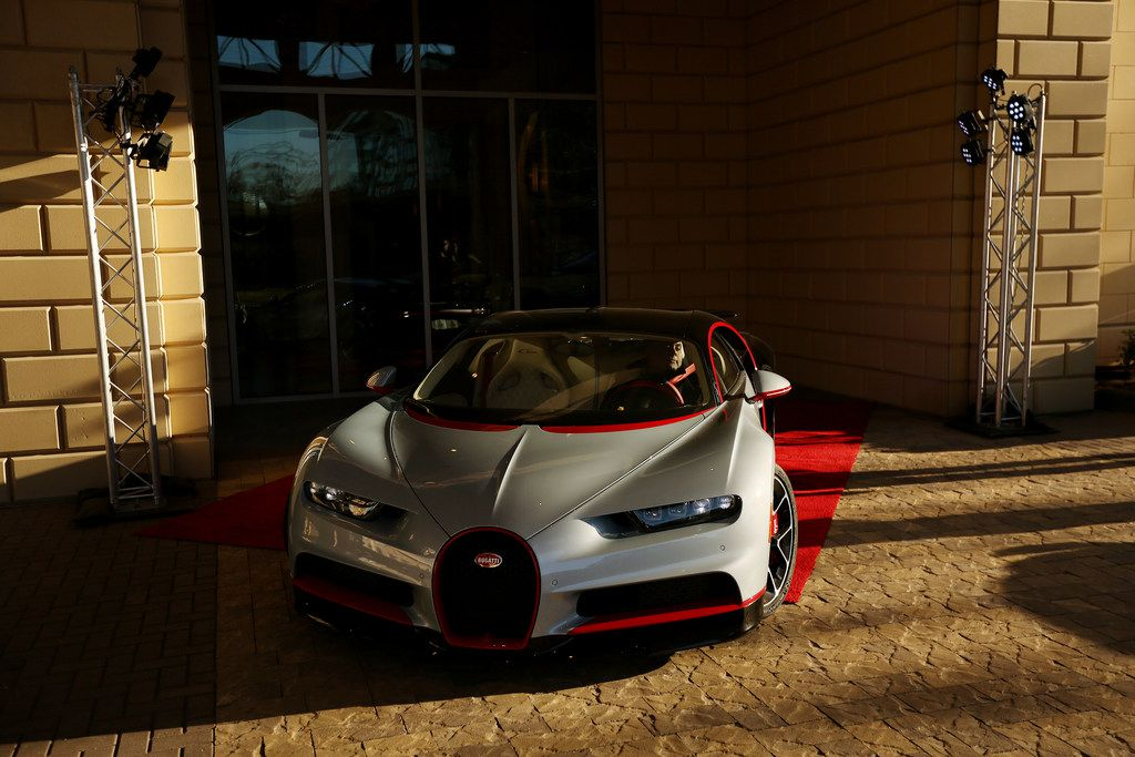 Vehicle owner Mayur Shree arrives before an event put on by Park Place commemorating the first delivery of a Bugatti Chiron to Texas at the Residences at The Stonleigh in Dallas Friday January 12, 2018. The Chiron was gifted by Shree's father. The car is capable of traveling over 260 miles per hour and has ten radiators, quad turbos and is valued at $3.2 million. (Andy Jacobsohn/The Dallas Morning News)