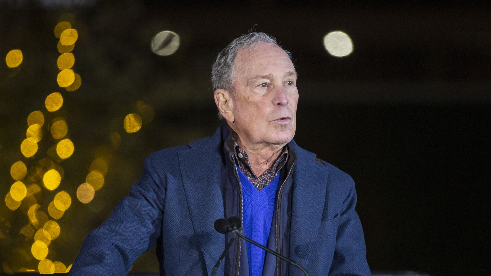 Presidential candidate and former New York Mayor Mike Bloomberg campaigns at the Happiest Hour on Jan. 11, 2020 in Dallas. (Juan Figueroa/ The Dallas Morning News)