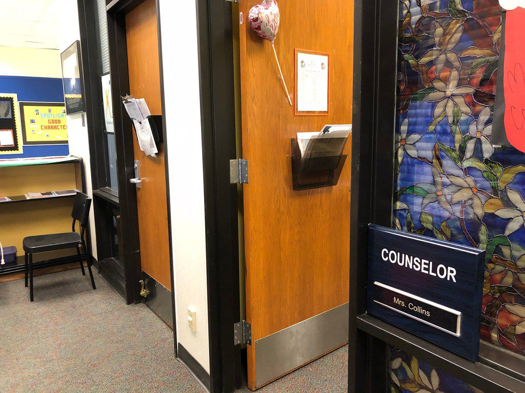 Counselors' offices at Dallas ISD's Seagoville High School. In October 2017, Dallas ISD is allocating over $5 million for the upcoming school year to hire 57 new mental health clinicians.