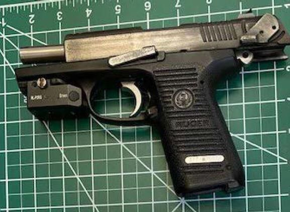 This firearm was caught by Transportation Security Administration officers at the Ronald Reagan Washington National Airport checkpoint on July 30.
