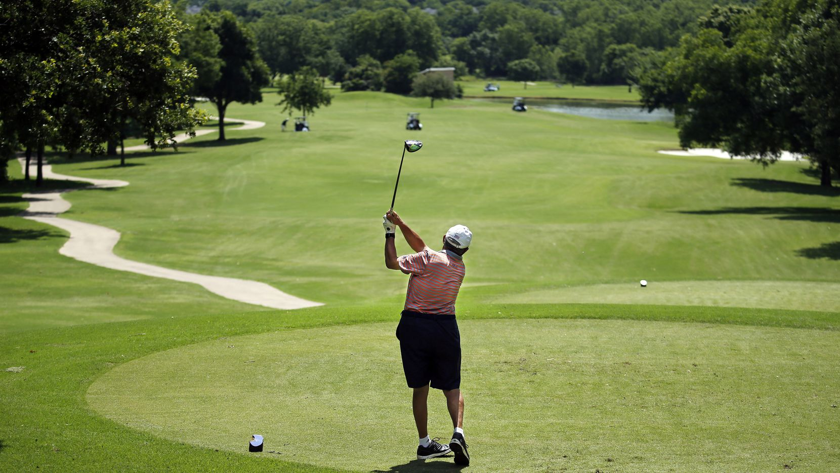 Grapevine Golf Course is debuting a new clubhouse and restaurant on Friday. (Tom Fox/The Dallas Morning News)