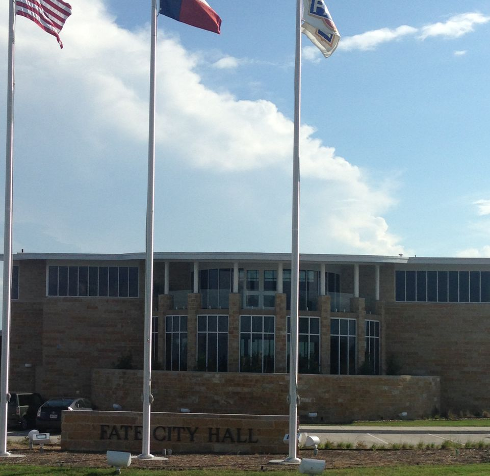 A new City Hall reflects the growth in Fate, a Rockwall County city where the population has grown from 600 to more than 12,000 since the 2000 census.