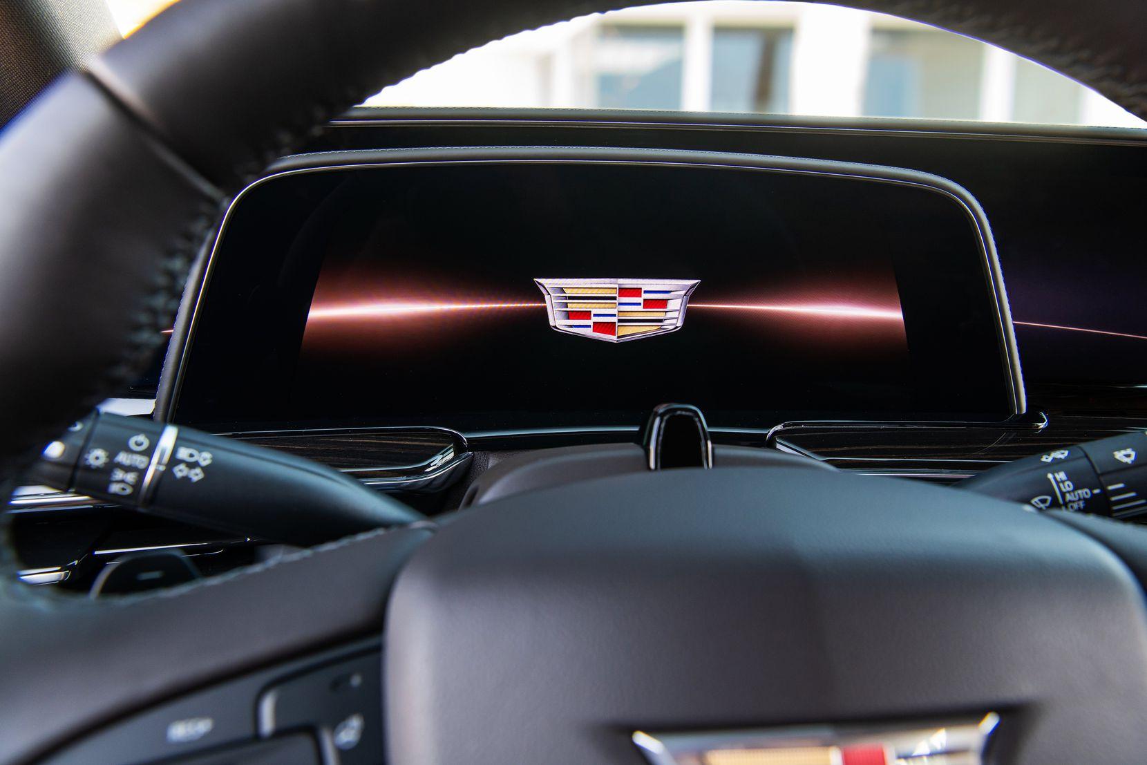 "2021 Cadillac Escalade showcases a 38"" diagonal OLED display."