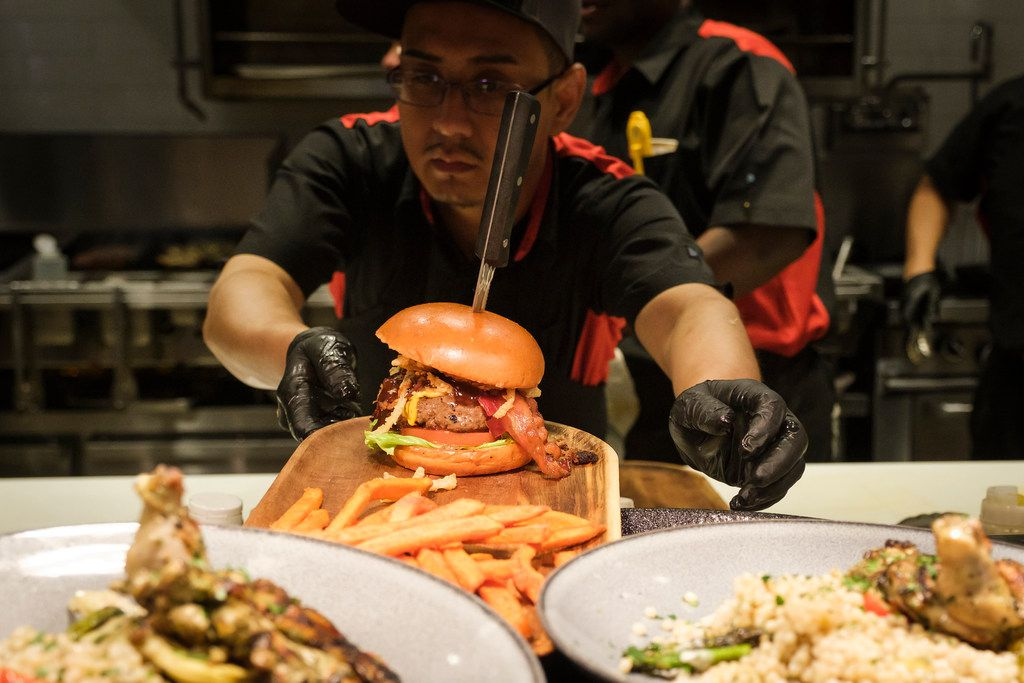 Sidecar Social's Triple B Burger includes beef, brisket and bacon.