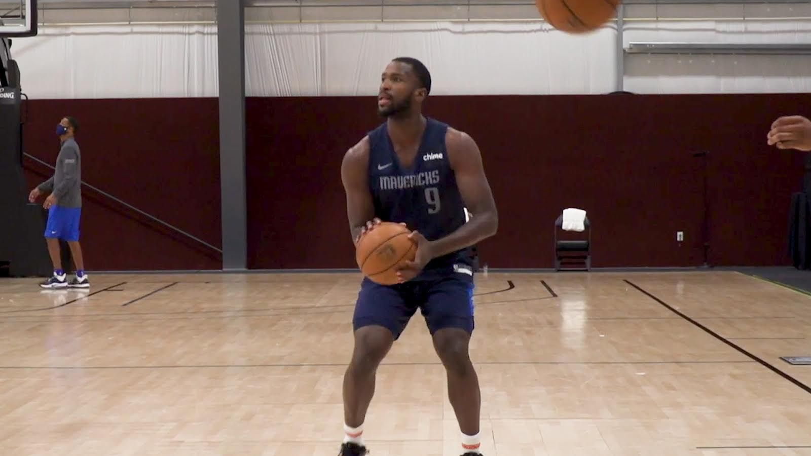 Dallas Mavericks forward Michael Kidd-Gilchrist practices with the team on Monday, July 20, 2020. Kidd-Gilchrist just joined the Mavs in the Florida bubble this past weekend.