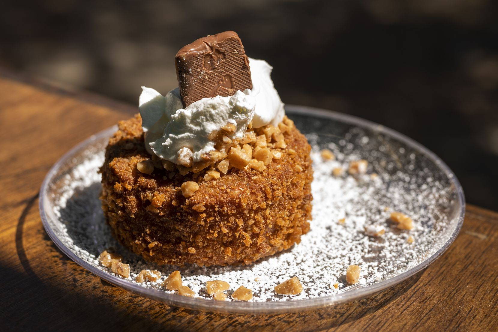 Fernie's Fried Toffee Coffee Crunch Cake is one of the 10 Big Tex Choice Award finalists at the State Fair of Texas in 2021.