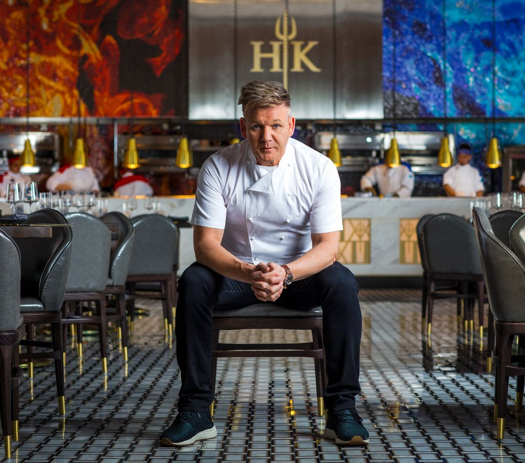 Gordon Ramsay intends to film future episodes of his Hell's Kitchen television show inside his new Caesars Palace restaurant of the same name.