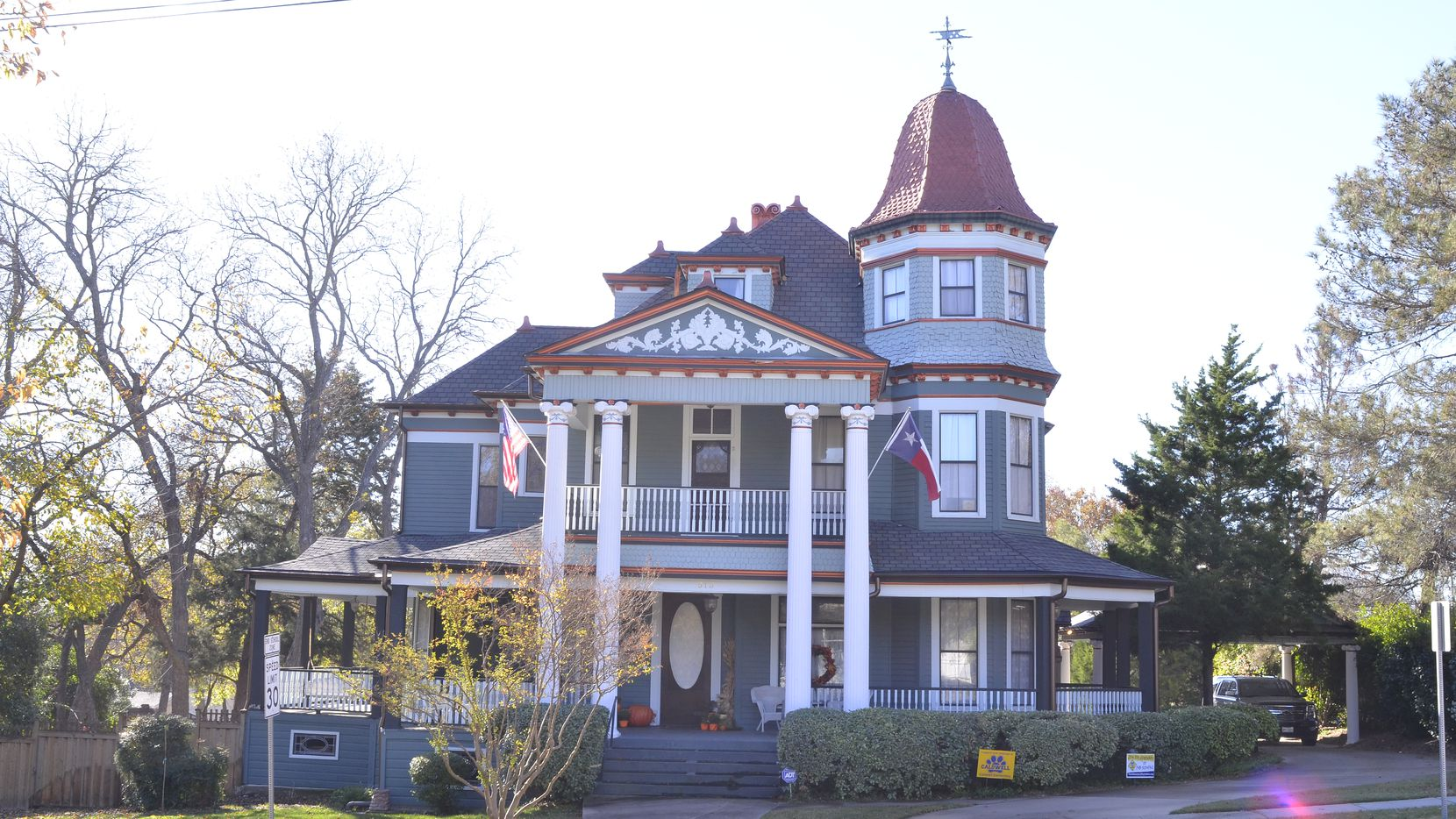 The L.A. Scott House, located at 513 W. Louisiana St., was built in 1880 and is a combination of Queen Anne and Classic Revival-style architecture.