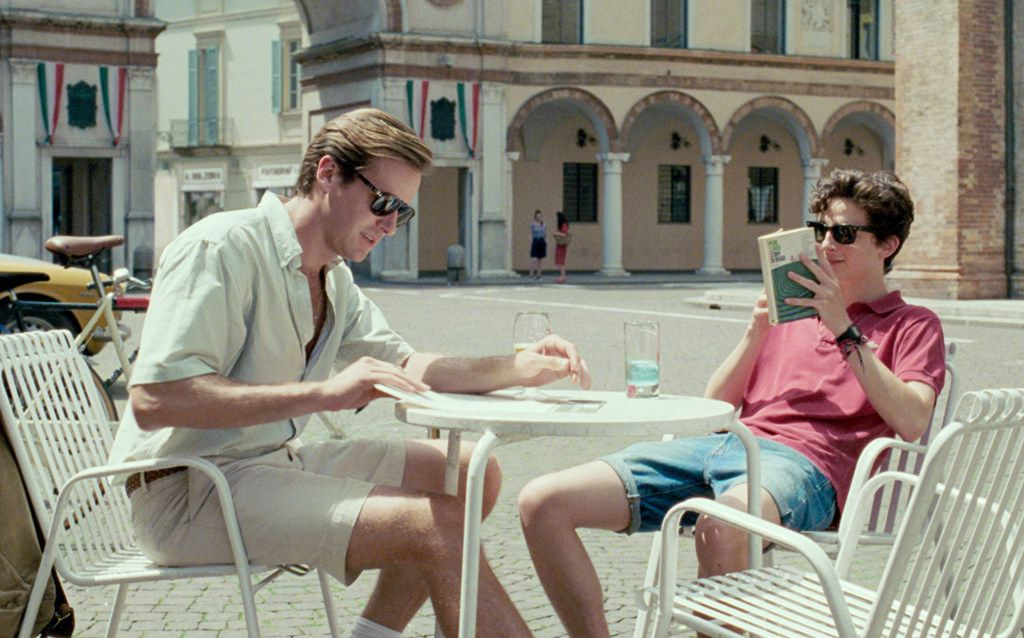 """Armie Hammer as Oliver and Timothee Chalamet as Elio in """"Call Me By Your Name."""""""