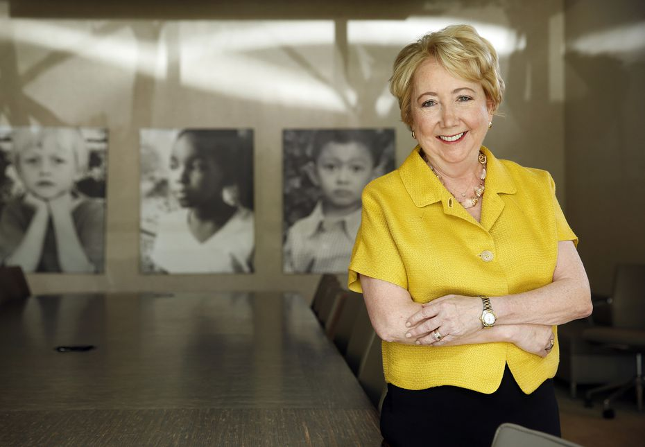 Kathleen LaValle, president and CEO of Dallas CASA (Court Appointed Special Advocates), poses for a photo in the agency's Dallas office.