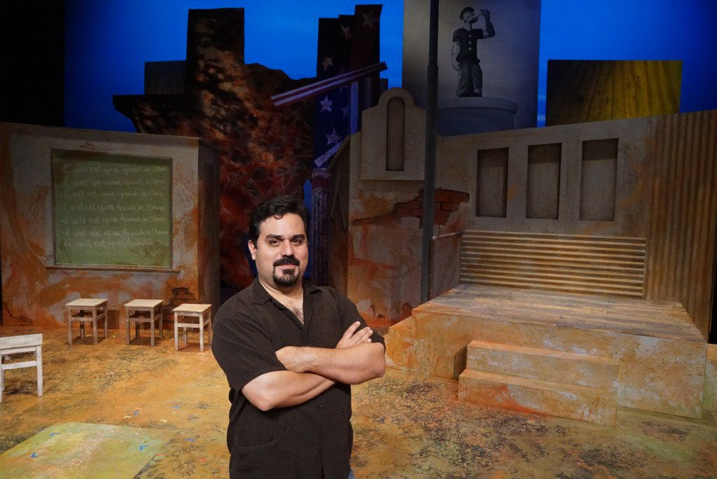 "David Lozano, co-writer and director of ""Crystal City 1969,"" and executive artistic director of Cara Mia Theatre, during a rehearsal at the Latino Cultural Center in Dallas. The show helped him rediscover ""my passion for theater and the reasons I like to make theater,"" he says."