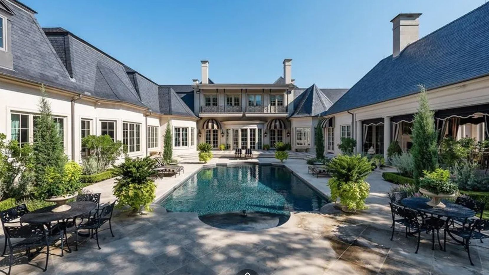 The house has a resort style pool.