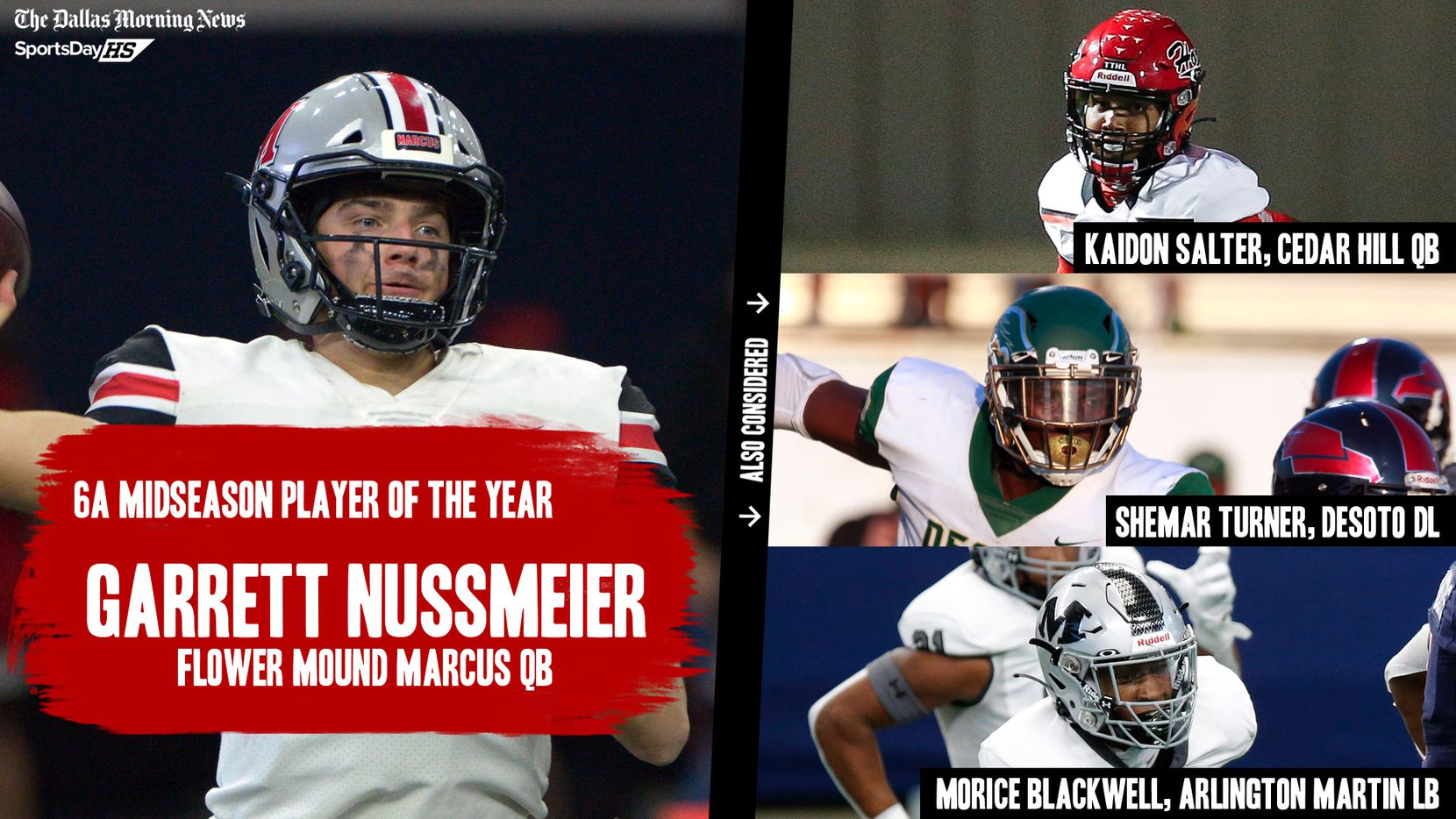 The Dallas Morning News' midseason awards for the 2020 football season: 6A Player of the Year.