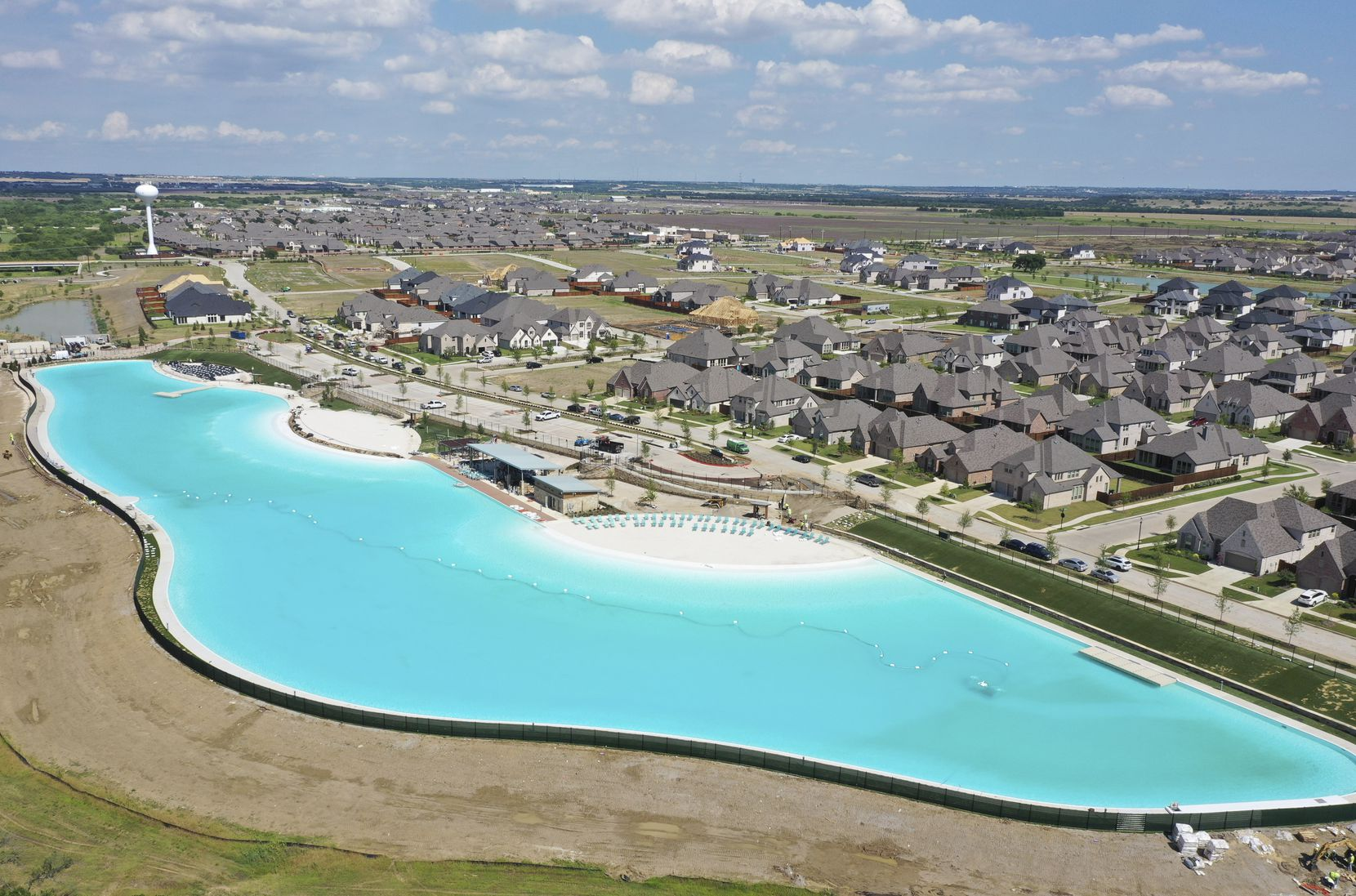 The Crystal Lagoon at Windsong Ranch is the first of three planned for North Texas.