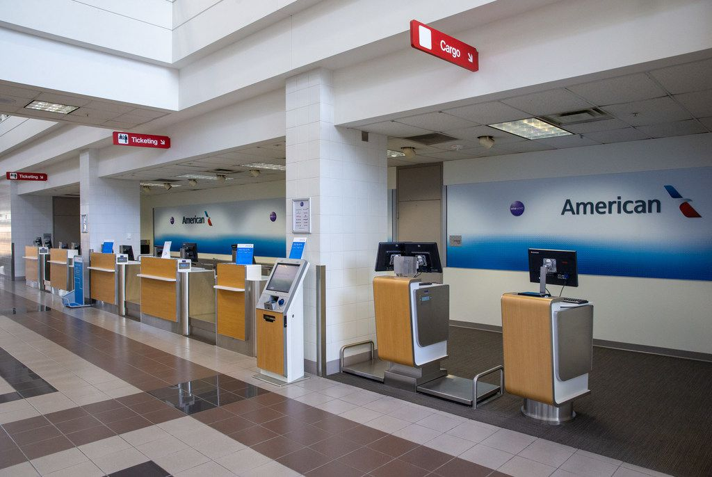The new American Airlines campus and headquarters features a training terminal for flight attendants and crew members to practice their customer service skills. The training terminal is photographed here in Fort Worth, Texas, on Monday, Sep. 23, 2019. (Lynda M. Gonzalez/The Dallas Morning News)