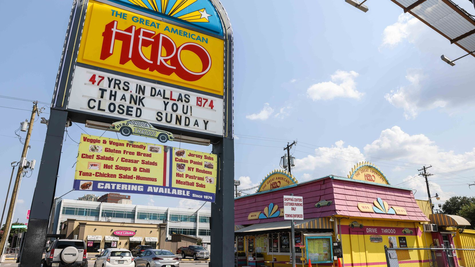 The Great American Hero in Dallas on Saturday, July 31, 2021. The shop is closing after 47 years.