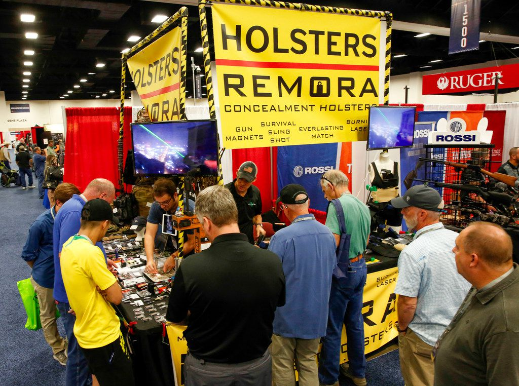 Vendors plied their wares in the exhibition hall at the Fort Worth Convention Center.