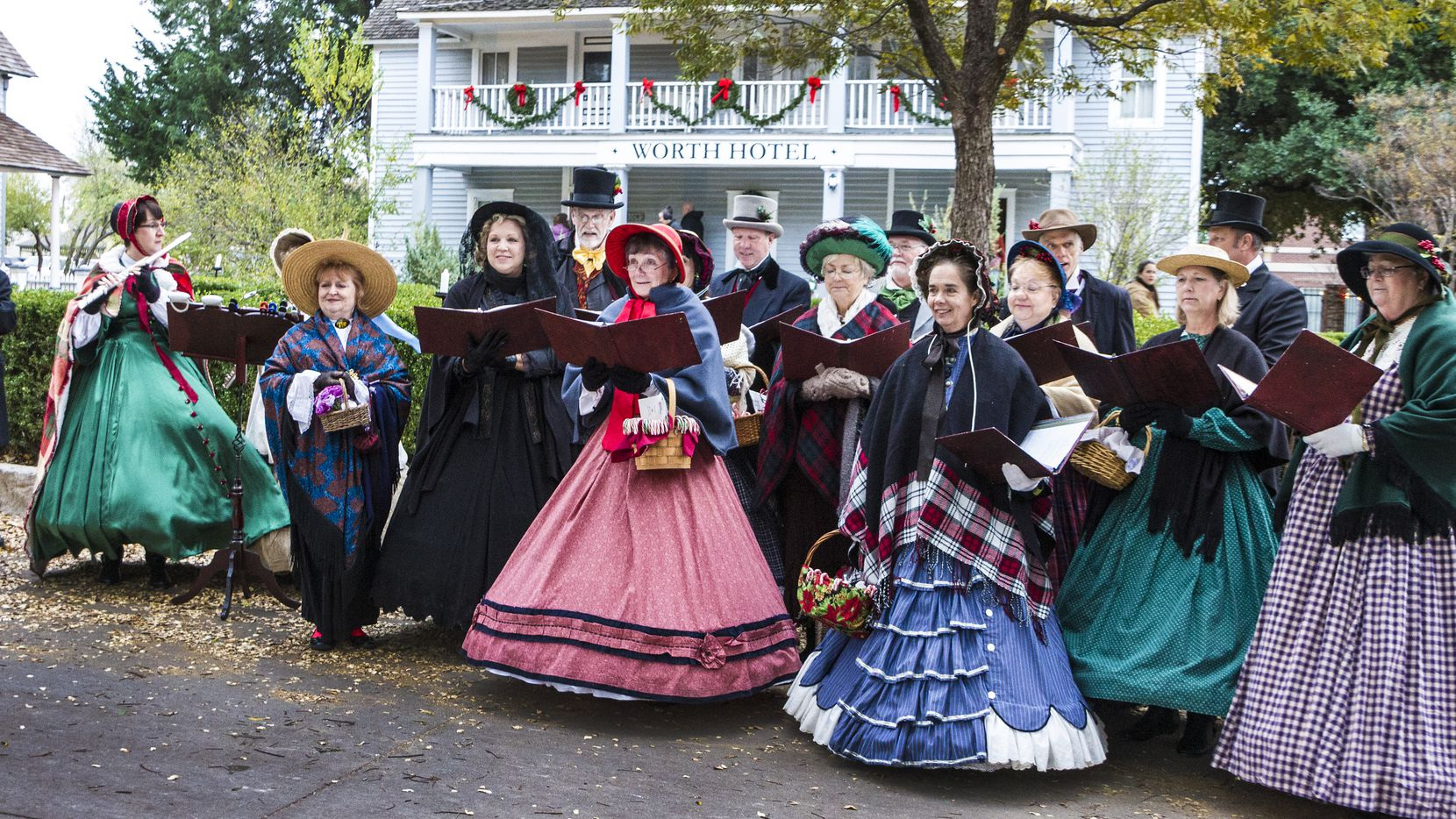 Candlelight at Dallas Heritage Village will feature historic buildings decorated for the holidays, strolling carolers, cooking and blacksmithing demonstrations, toy trains, St. Nicholas, interpreters in traditional costumes, live music and more.