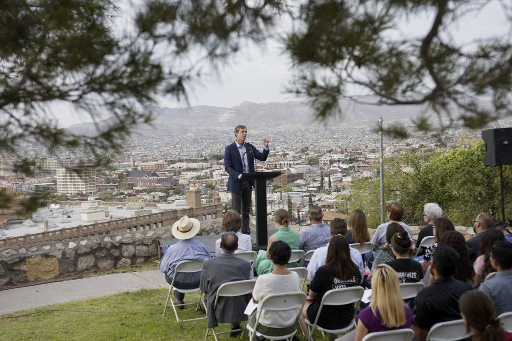 Beto O'Rourke speaks at a campaign re-launch on August 15, 2019 in El Paso, Texas. O'Rourke paused his campaign after a shooting at a local Walmart targeting Latinos left 22 people dead.