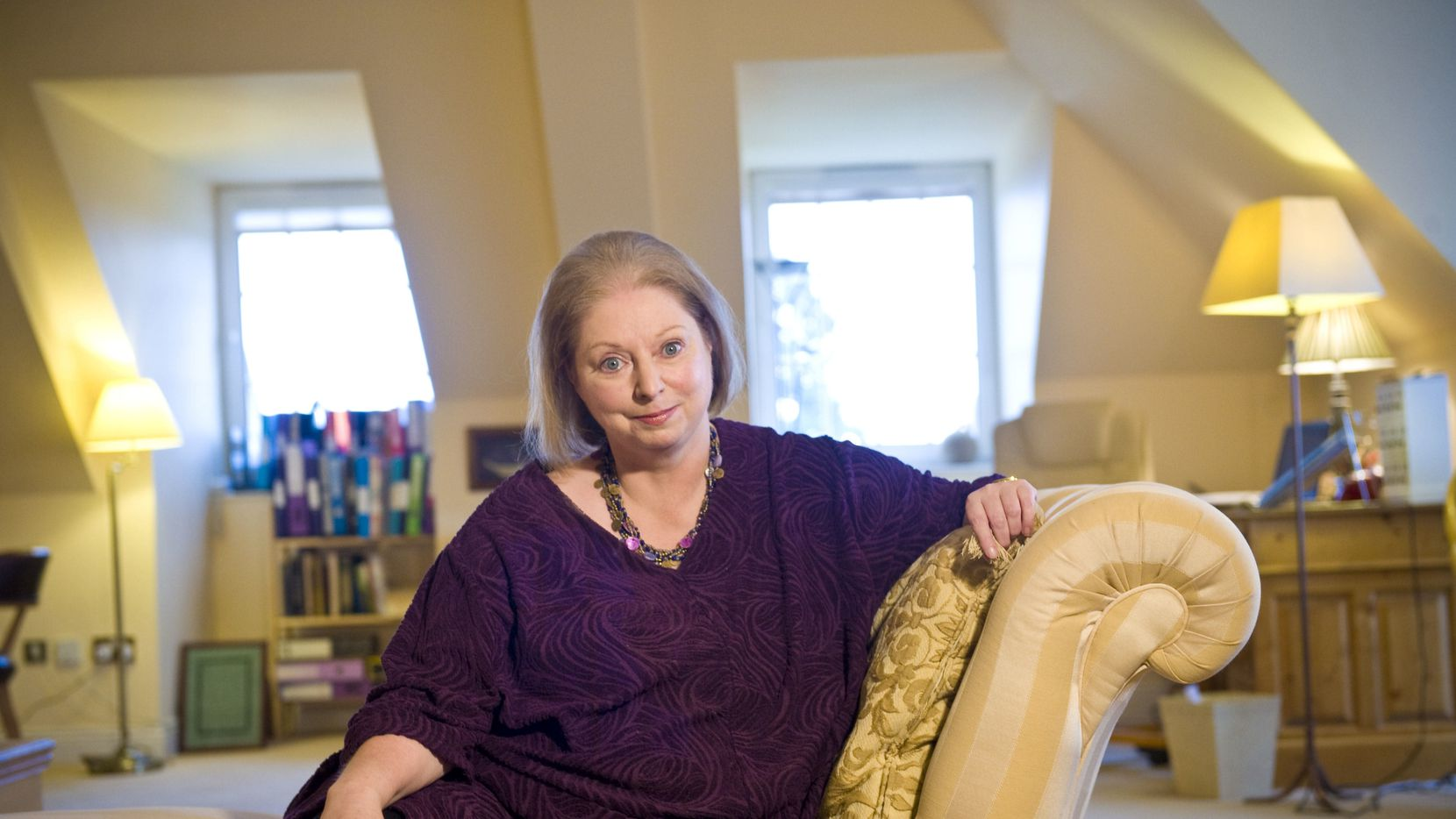 Hilary Mantel at her home in Surrey, England in 2012