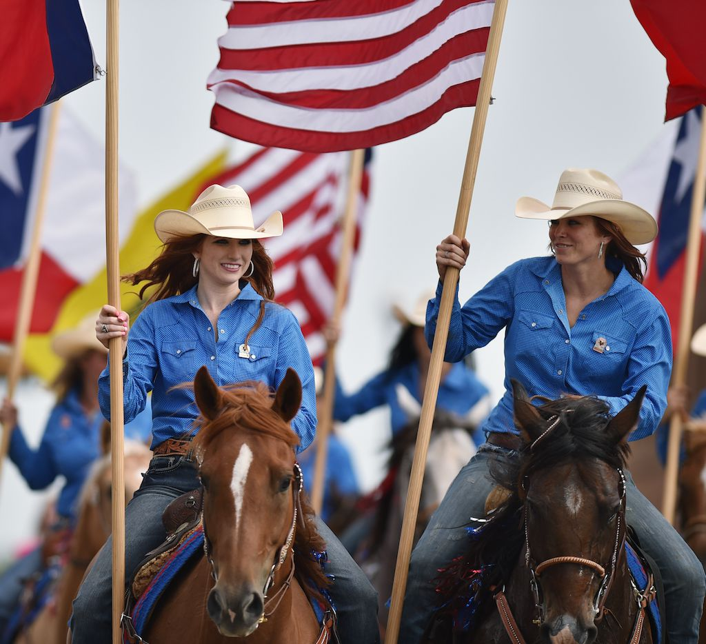 North Texas Fair and Rodeo parade rolls through the Denton Courthouse Square.