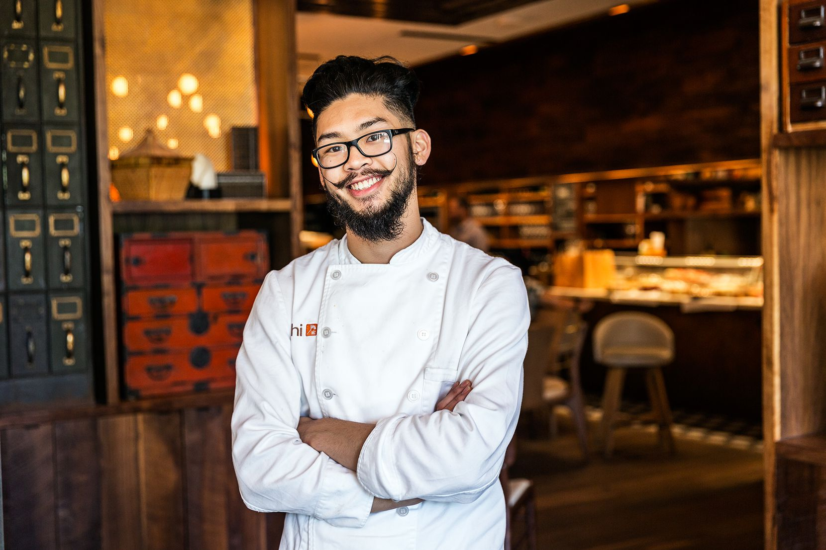Calvin Pravongviengkham, 23, cook at Uchi