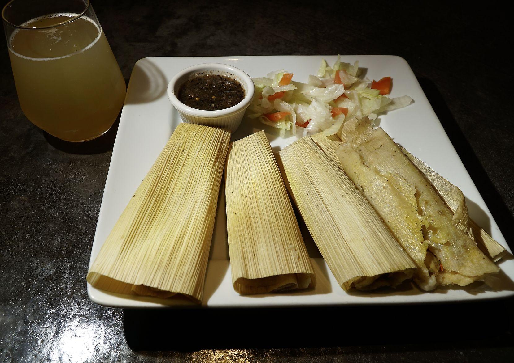 Mama's Tamales at Strangeways restaurant in Dallas