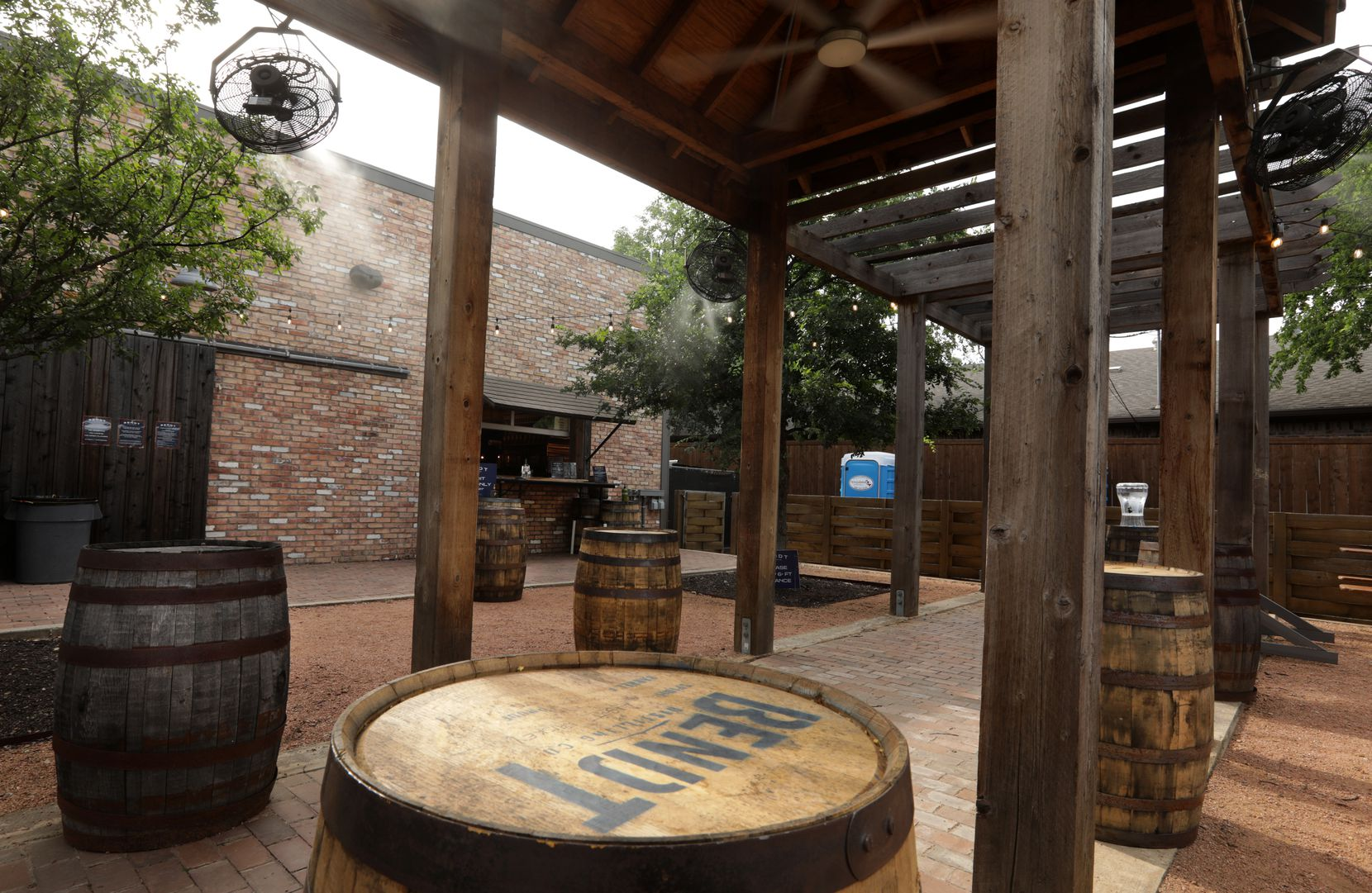 Bendt Distilling in Lewisville only recently opened back up its outdoor whiskey garden. It disrupted its regular business for almost three months.