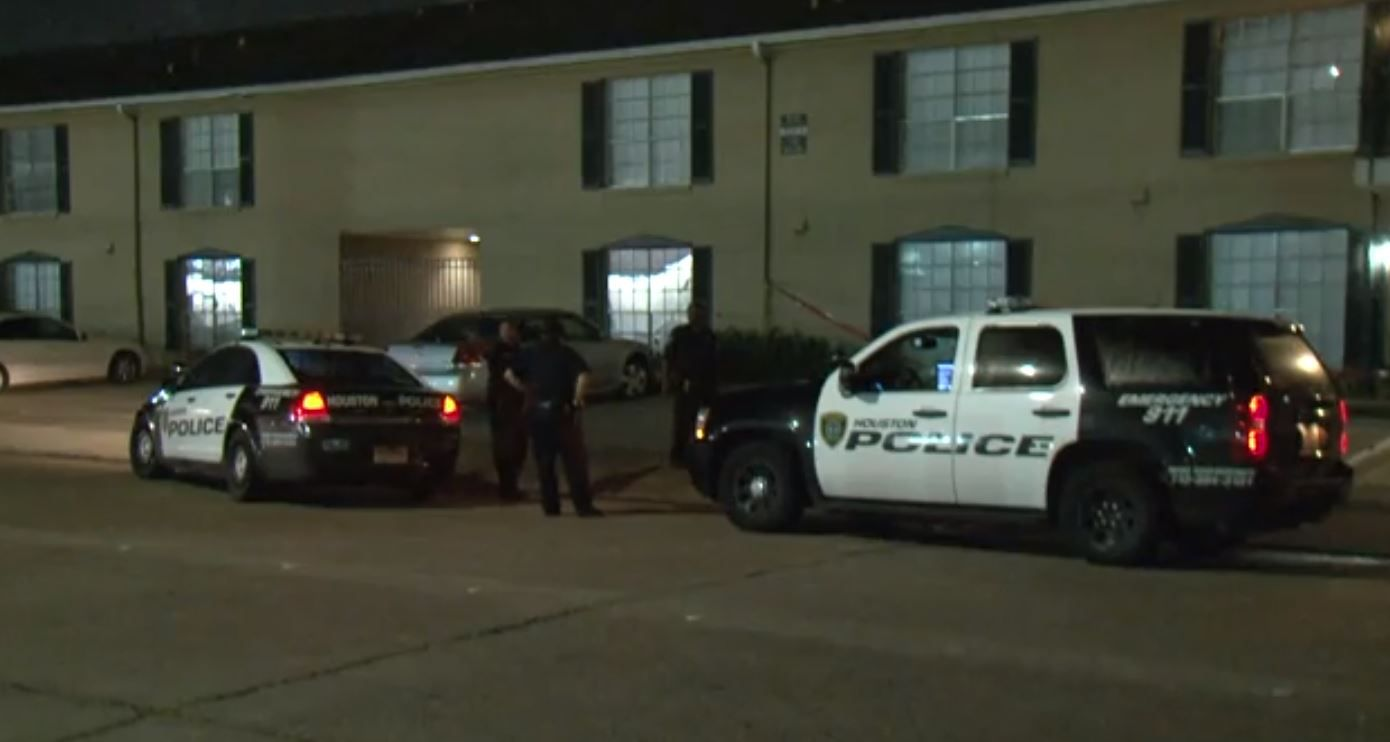 Police were called to the apartments about 3 a.m. and took a person of interest into custody.