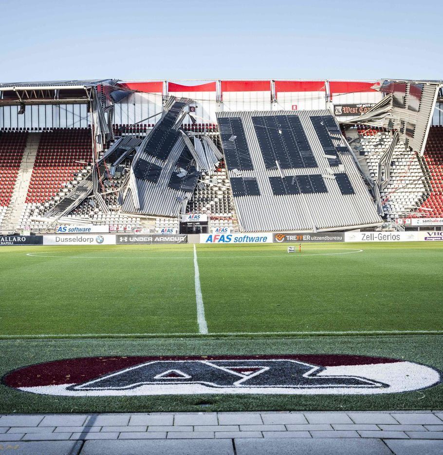 A view of a section of the collapsed at the AZ Alkmaar football club's AFAS Stadium in Alkmaar on August 10, 2019. (Photo by Vincent Jannink / ANP / AFP) / Netherlands OUTVINCENT JANNINK/AFP/Getty Images