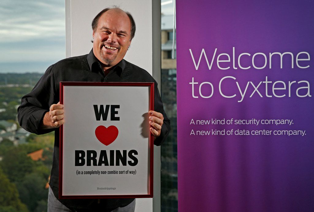Dave Copps, CEO and founder of Brainspace, a Cyxtera business, poses for a photograph at the Addison, Texas, office on Tuesday, Oct. 10, 2017. (Jae S. Lee/The Dallas Morning News)