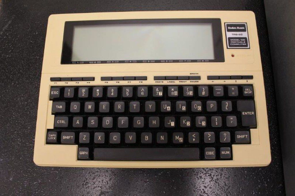 RadioShack introduced the TRS-80 Model 100 portable computer in 1983.