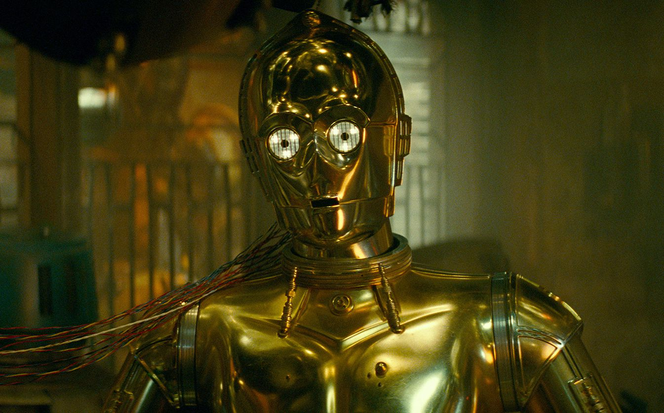 """Anthony Daniels, as C-3PO, is the only actor to have appeared in all nine films of the Skywalker saga, which launched with 1977's """"A New Hope."""""""