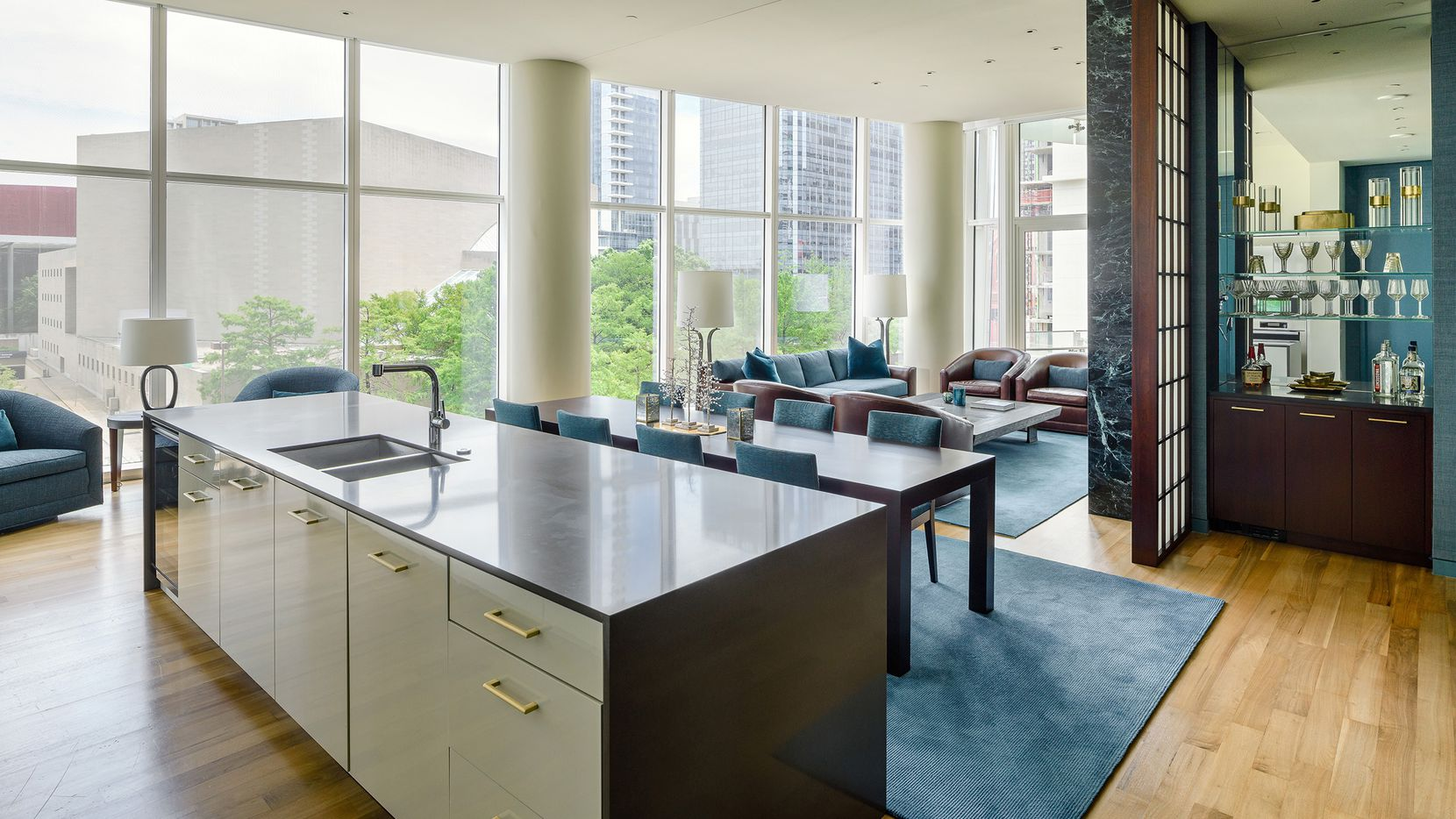 The completely remodeled third-floor residence at 1918 Olive St., unit 302, is in Museum Tower.