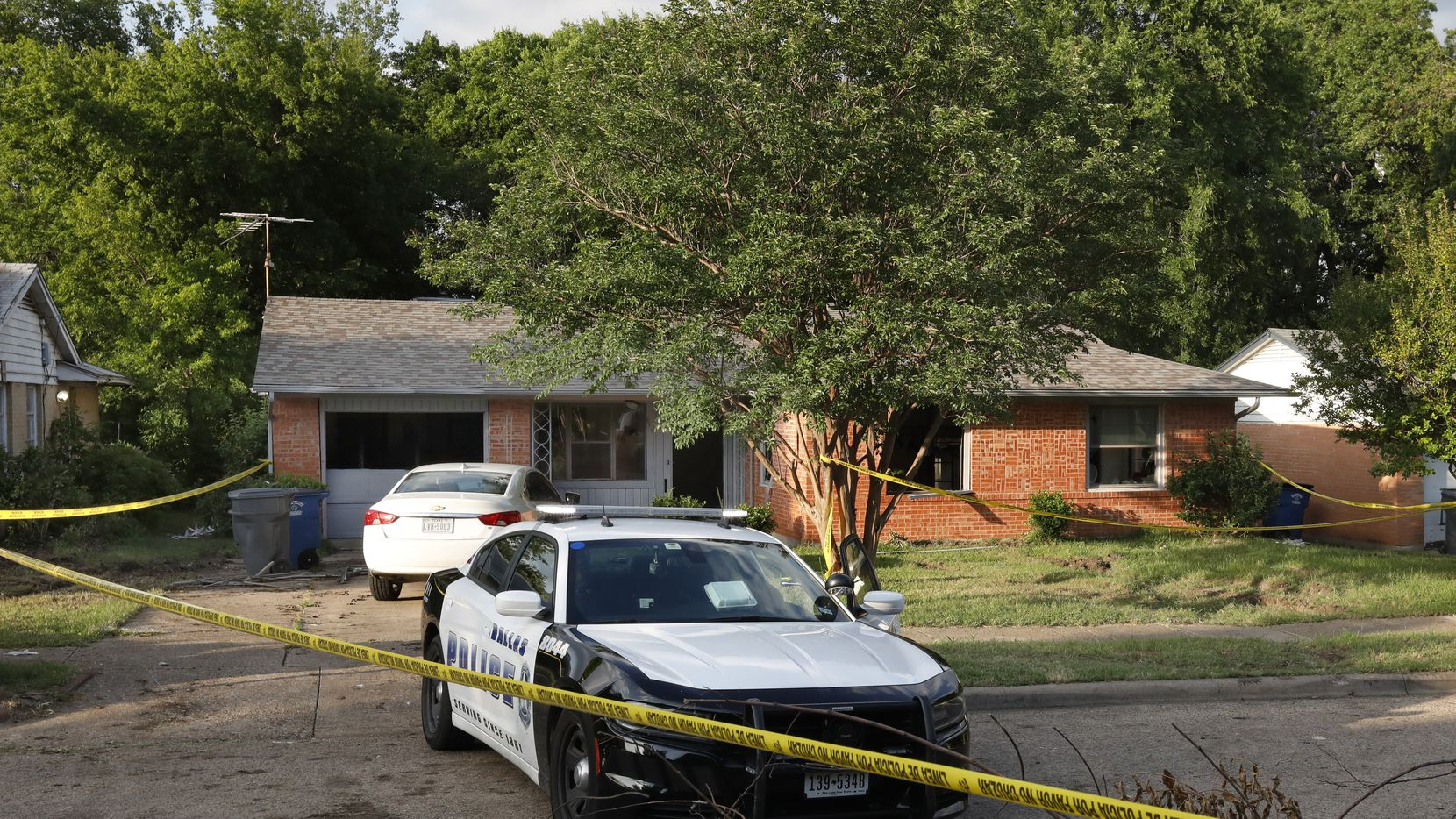 Dallas officers responded to a domestic violence call in the 500 block of Highcrest Drive in Dallas in an incident that turned into a murder-suicide.