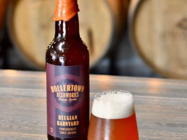 The Belgian Barnyard saison from Rollertown Beerworks in Celina