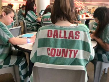 Female inmates in the Dallas County Jail who inspired the new film, In Her Shoes.
