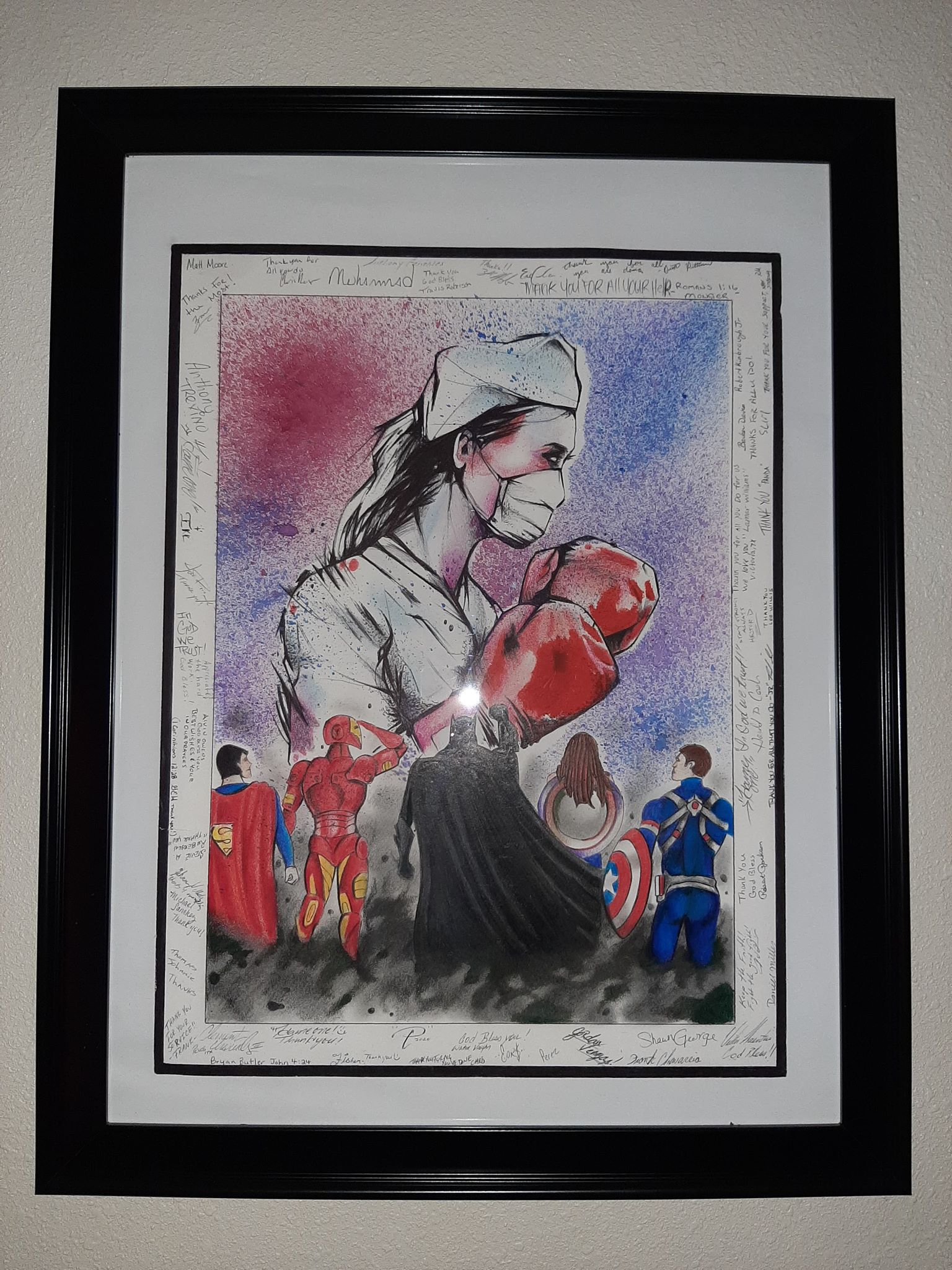 Kasi Veach's partner, who is currently incarcerated, drew her this picture and had his dorm mates sign it. Veach, a registered nurse, said her partner was approved for parole but his release was postponed due to COVID-19. The Texas Department of Criminal Justice said it is postponing the release of inmates who are sick with COVID-19, awaiting a virus test or may have come into contact with an infected person.