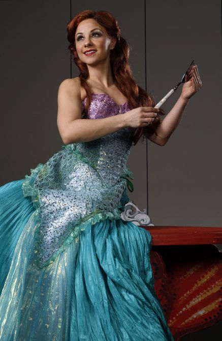 """Ariel played by Chelsea Morgan Stock poses for a photo at Fair Park in Dallas, on Friday, February 7, 2014. The Dallas Summer Musical's """"Disney's The Little Mermaid"""" will begin later this month."""