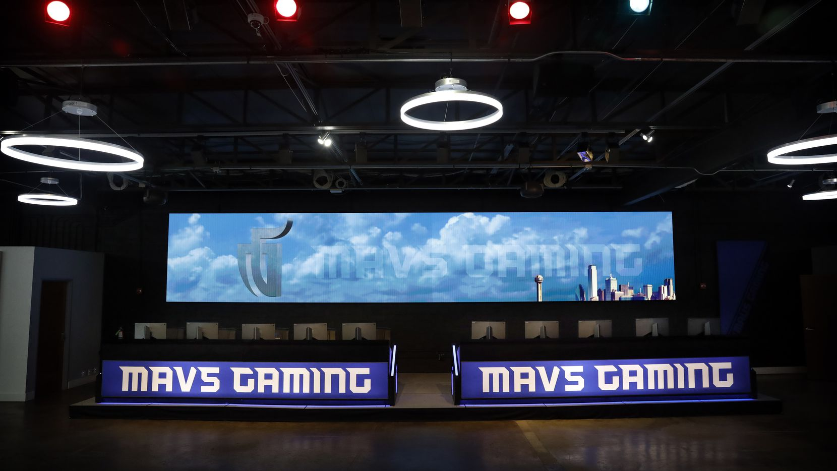 Mavs Gaming, which represents the Dallas Mavericks in the NBA 2K League, has a large competition room/event space in their Deep Ellum headquarters in Dallas, Saturday, February 22, 2020. (Tom Fox/The Dallas Morning News)